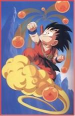 Goku volando sobre la nube Kinton